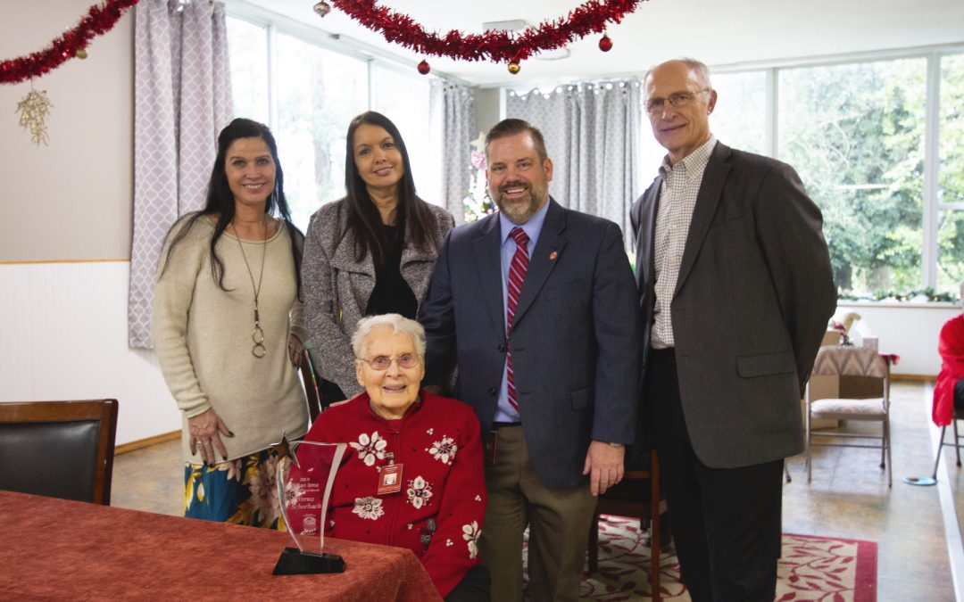 Mission Benedict Volunteer Presented with Helping Hands Award
