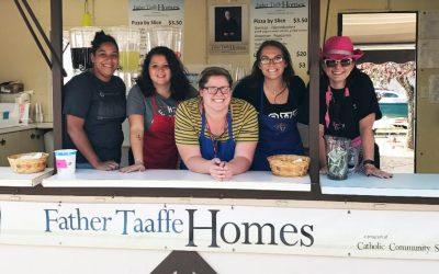 Father Taaffe Food Booth Goes on the Road!